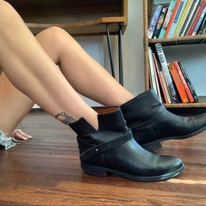 Madewell Leather Biker Ankle Boots #03827